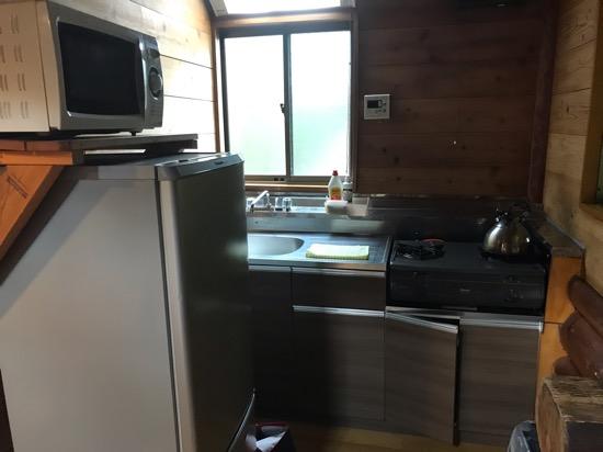 コテージ森林村のキッチンが綺麗