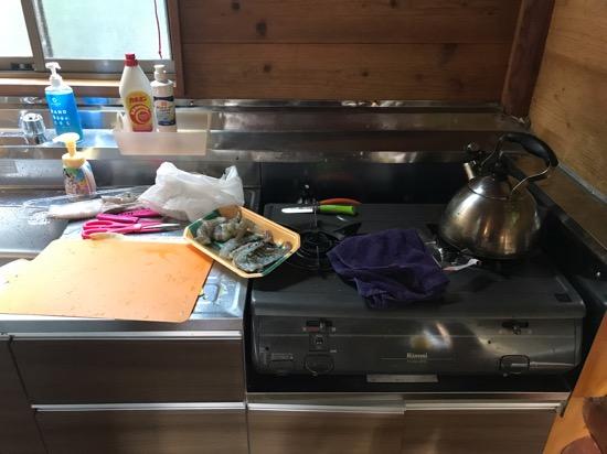 コテージ森林村のキッチン